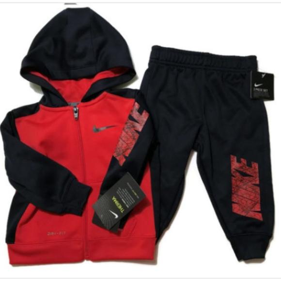 3f6f760e1 Nike Shirts & Tops | Baby Boys Full Zip Hoodie Pant Set 12 Month ...